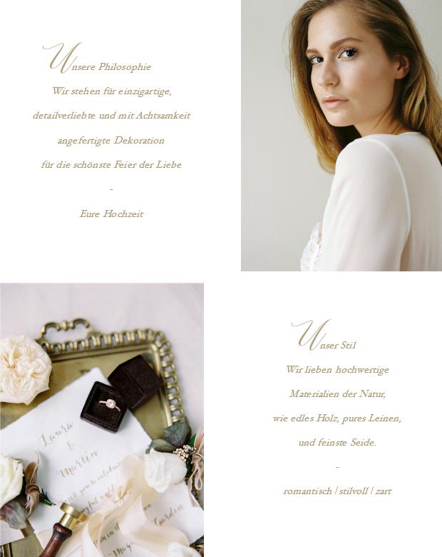 Hochzeitsdekration für stilvolle Bräute in Österreich, Schweiz, Deutschland
